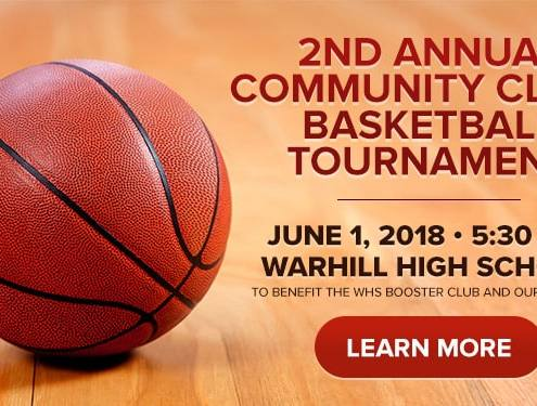 2nd Annual Community Clash Basketball Tournament - June 1 at 5:30 p.m. Warhill High Schooll