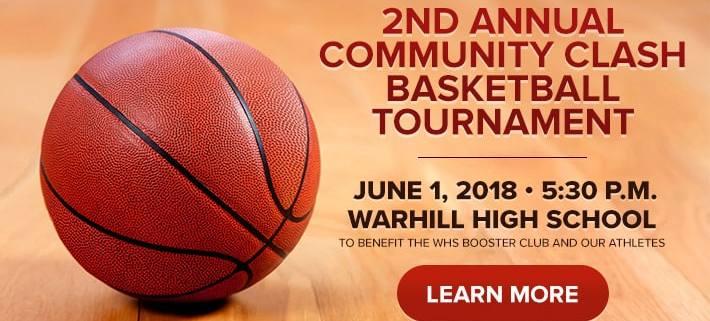 2nd Annual Community Clash Basketball Tournament - June 1 at 5:30 p.m. Warhill High Schooll