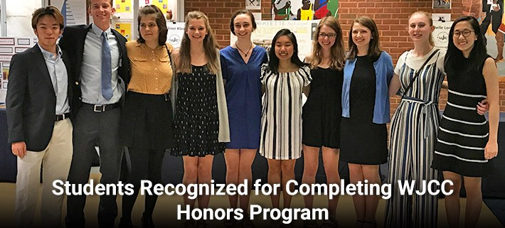Students Recognized for Completing WJCC Honors Program