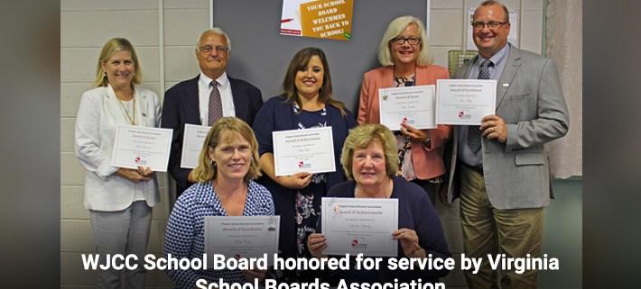 WJCC School Board honored for service by Virginia School Boards Association