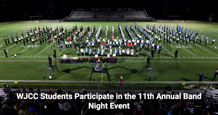 WJCC students playing during band night