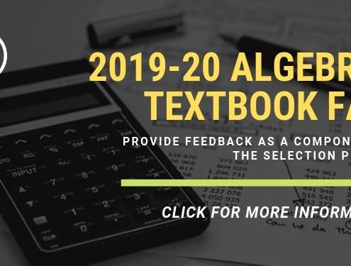 2019-20 Algebra I Textbook Fair