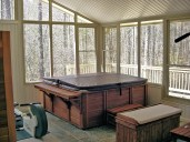 Exercise Room with Hot Tub and Spa.