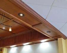 Reuse of the Existing Wood Ceiling