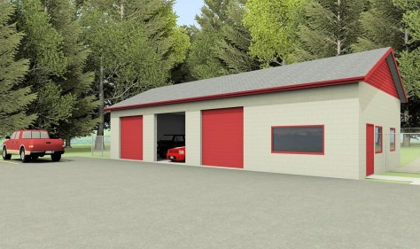 Proposed Commercial Garage with Offices
