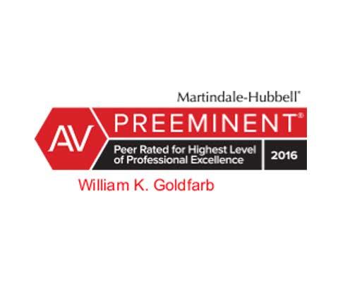 William K Goldfarb AV Preeminent by Martindale-Hubbell