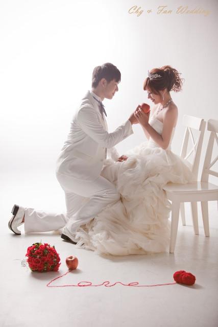 [♥囍♥]花嫁婚紗照★典雅白紗款