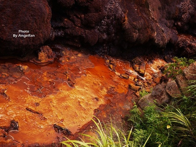 [台北瑞芳景點]~金瓜石黃金瀑布&陰陽海~好奇特大自然景觀 @小環妞 幸福足跡