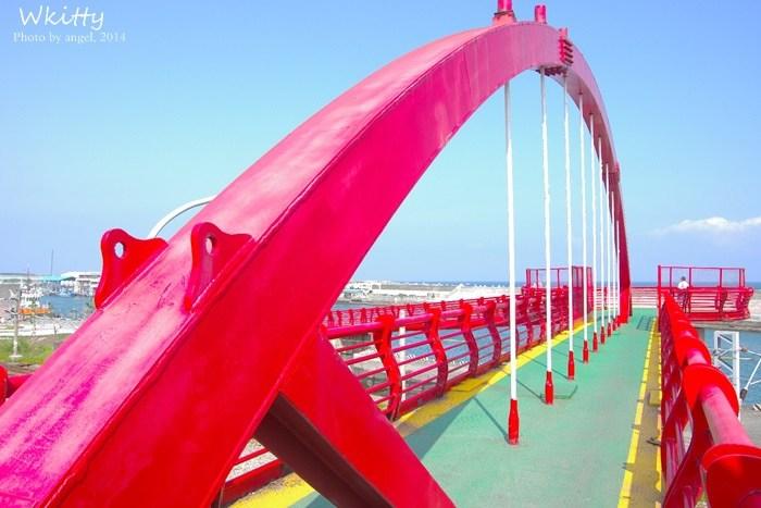 [花蓮景點] 花蓮港景觀橋*好繽紛的色彩噢!colorful~ @小環妞 幸福足跡