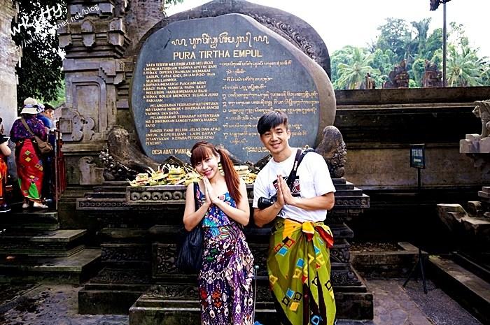 【峇里島必去景點(27)】聖泉廟Pura Tirta Empul,跳下去洗聖泉,超好玩的景點好冰涼! @小環妞 幸福足跡