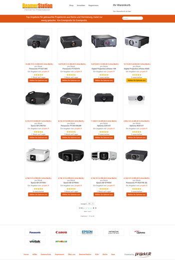 Webseite BeamerStation gebrauchte Technik