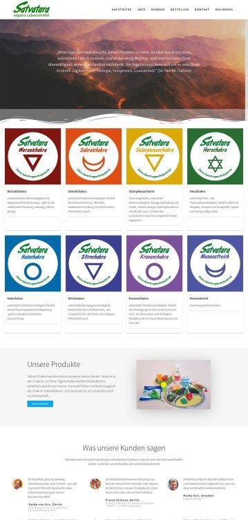 Satvatara Webseite und Markenbildung