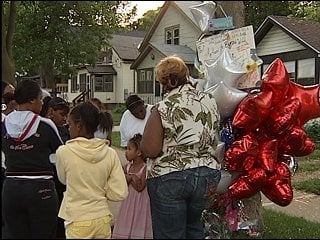 Remembering Dionna Cook on the street where she died (Courtesy: WKOW)