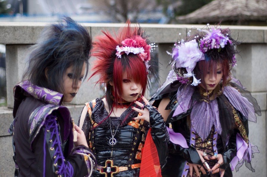 Visual kei cosplay w Harajuku