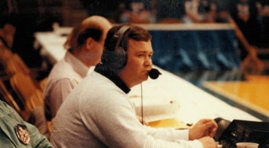 Mike Kearns scorers table