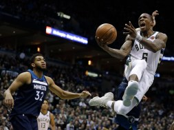 Timberwolves Bucks Basketball