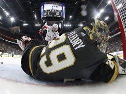 Vegas Fluery goalie NHL Finals AP