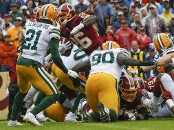Redskins Adrian Peterson TD Packers AP