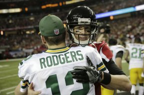Packers Rodgers Atlanta Ryan hug AP