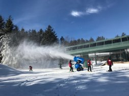 Snoeshoe Mountain snow making AP