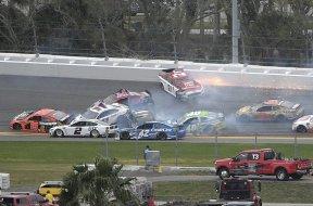 NASCAR clash crash Feb 9 AP