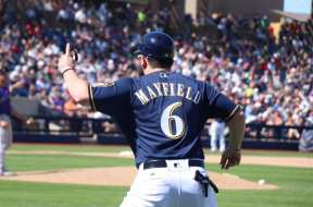 Baker Mayfield coaching Brewers FB