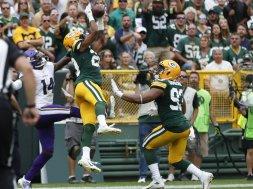 Packers Kevin King INT Vikings AP
