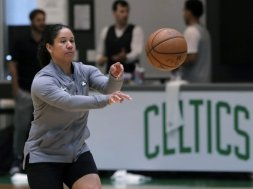 NBA Celtics women Kara Lawson coach AP