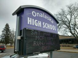 Onalaska High School sign