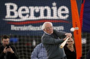 Bernie Sanders swinging MLB AP