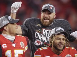 Kelce Mahomes Hill AFC champs AP