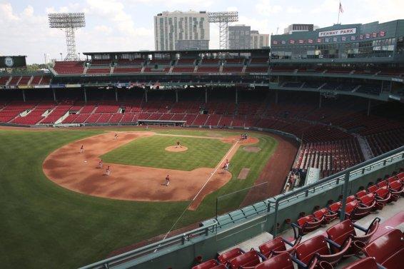 Boston Red Sox Fenway fans AP