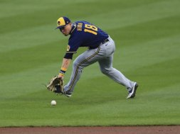 Brewers Keston Hiura field AP