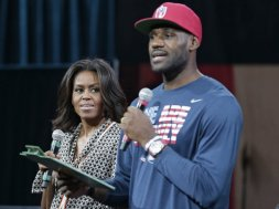 LeBron Obama Michelle AP
