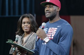 LeBron Obama Michelle AP