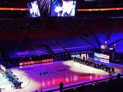 Celtics Heat kneel AP