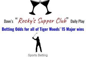 tiger betting odds