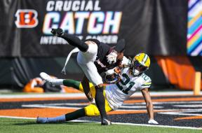 Packers Eric Stokes Bengals Chase AP