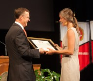Elizabeth McGrew was the student recipient of the 4th annual President's Award for Sustainability.