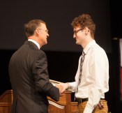 Andrew Salman was the student recipient of the 14th annual President's Award for Diversity.