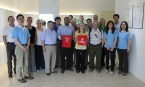 As part of a two-week trip on corporate leadership, a WKU delegation visited Zoeller Taiwan Company.