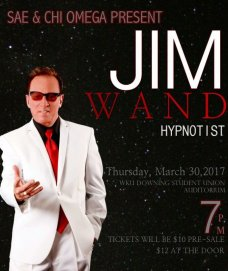 Hypnotist Jim Wand will visit WKU on March 30.