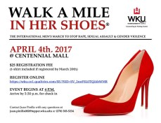 Walk a Mile in Her Shoes will be held April 4.