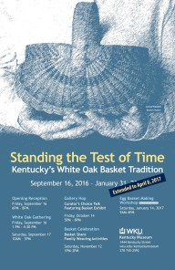 """""""Standing the Test of Time: Kentucky's White Oak Basket Tradition"""" has been extended through April 8 at the Kentucky Museum."""