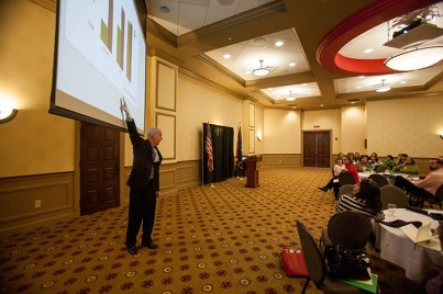 Ken O'Donnell, Senior Director for Student Engagement for the California State University System, presented a professional development workshop on High-Impact Practices on Oct. 28.