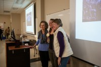 "Olympic gold medalist Claire Donahue and Dr. Betsy Schoenfelt presented ""Psychological Sciences Goes to the Olympics — and Wins Gold!"" on Feb. 1."