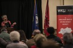 "Martha Barnette, co-host of the public radio show ""A Way with Words,"" spoke at WKU on March 9."