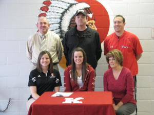 Kaitlin was joined by her parents Jim and Karen, as well as Knox coach Jake Skelly, Athletic Director Phil Owens and IUSB coach Jamie Ashmore-Pott.