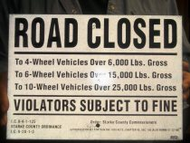 Signs like this one were posted throughout Starke County.