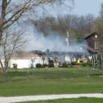 Thank you to WKVI listener Marcia Lockner for the photo of Sunday's fire on 175 N. at U.S. 35
